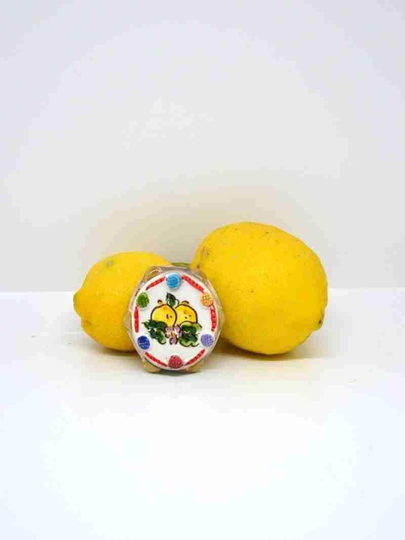 Magnete Tamburello Limoni Pop Art Nonna Rosa