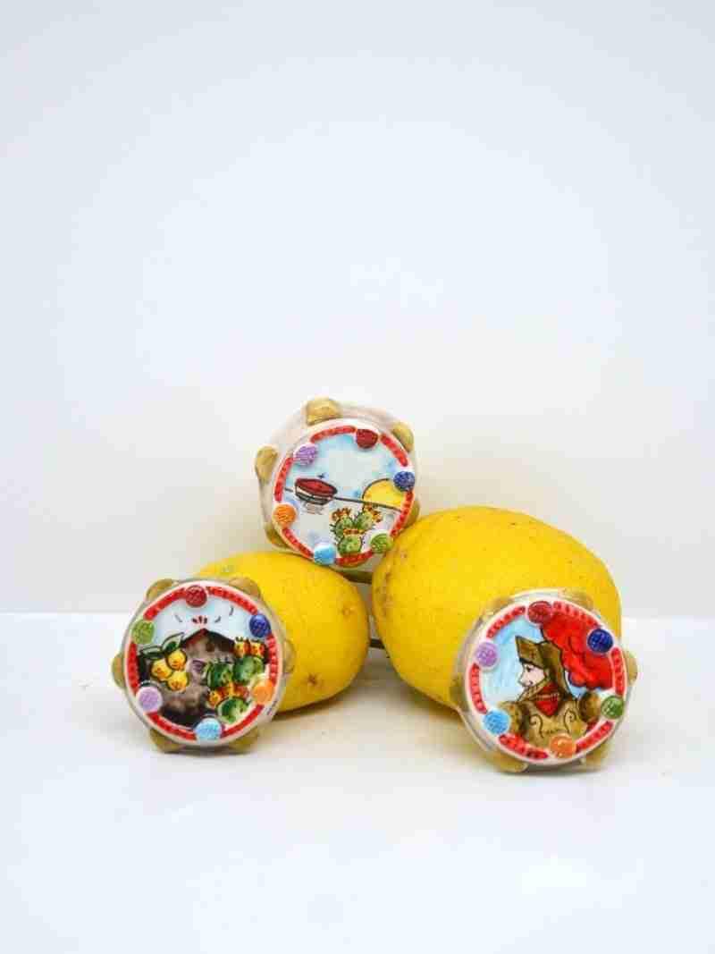 Magnete Tamburello Pop Art Nonna Rosa