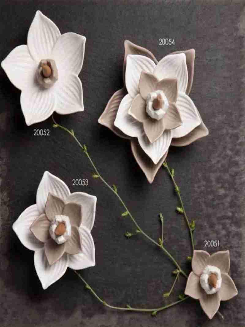 bomboniere claraluna brucia incenso fiore ceramica
