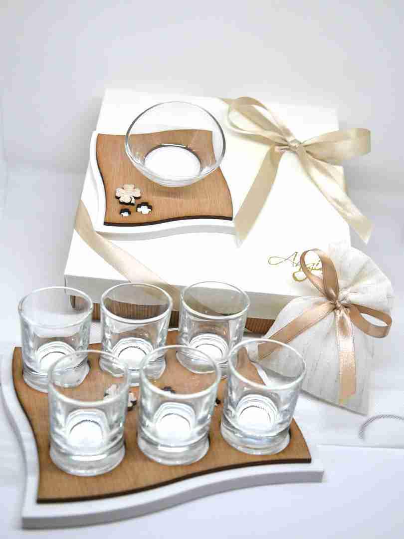 Bomboniere Matrimonio Bicchieri.Vassoio Bicchieri Fazzoletto 2000920 Iris Bomboniere