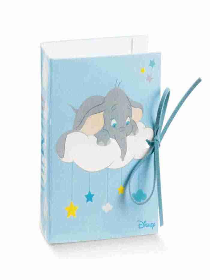 Portaconfetti Azzurro Book Dumbo