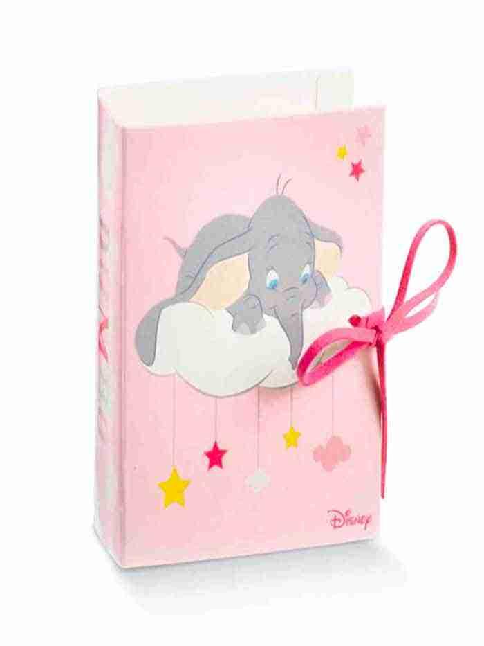 Portaconfetti Book Dumbo Rosa