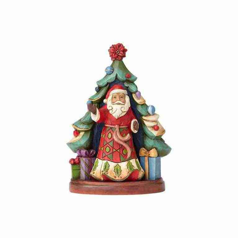 Albero con Babbo Natale
