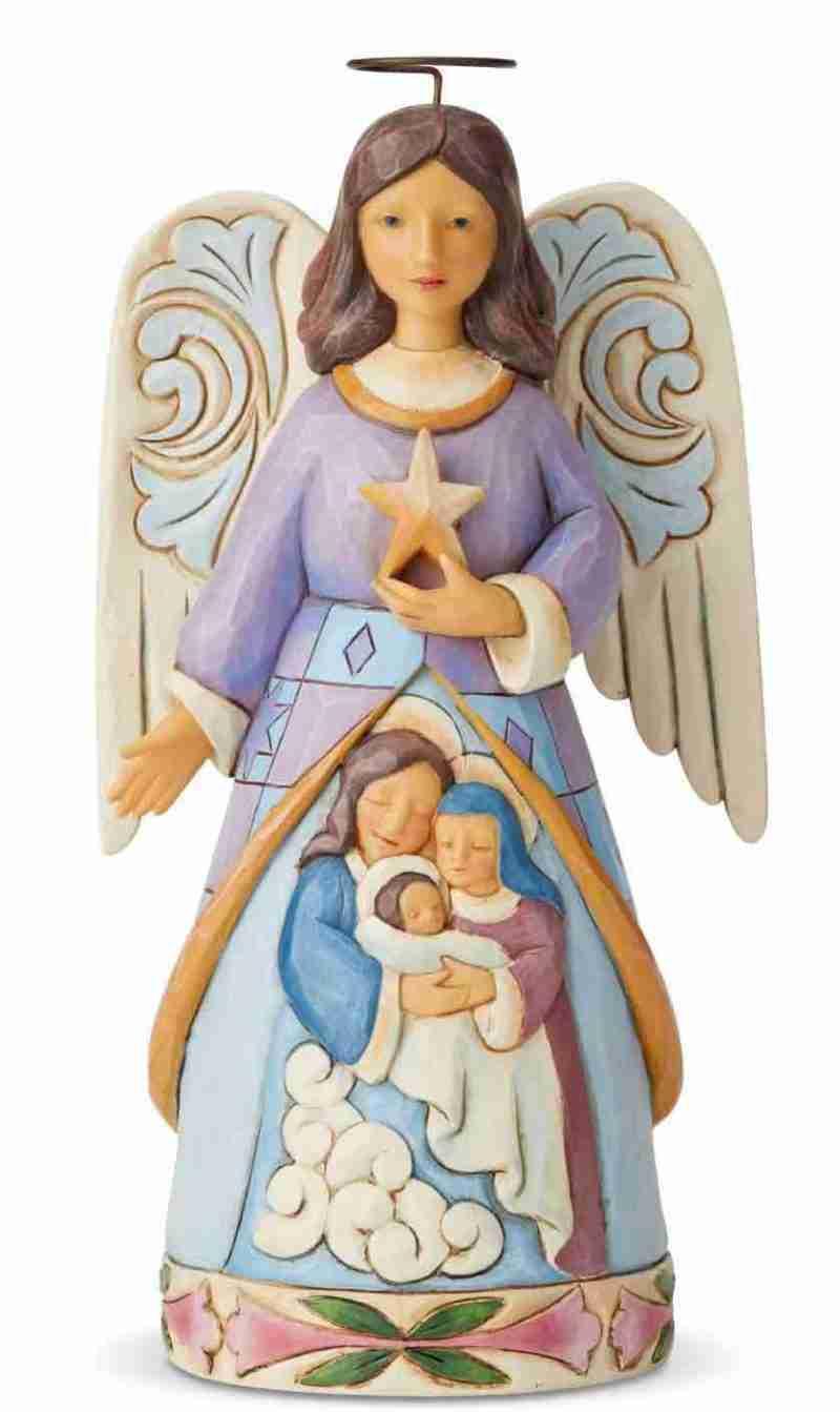 Angelo con stella e Natività