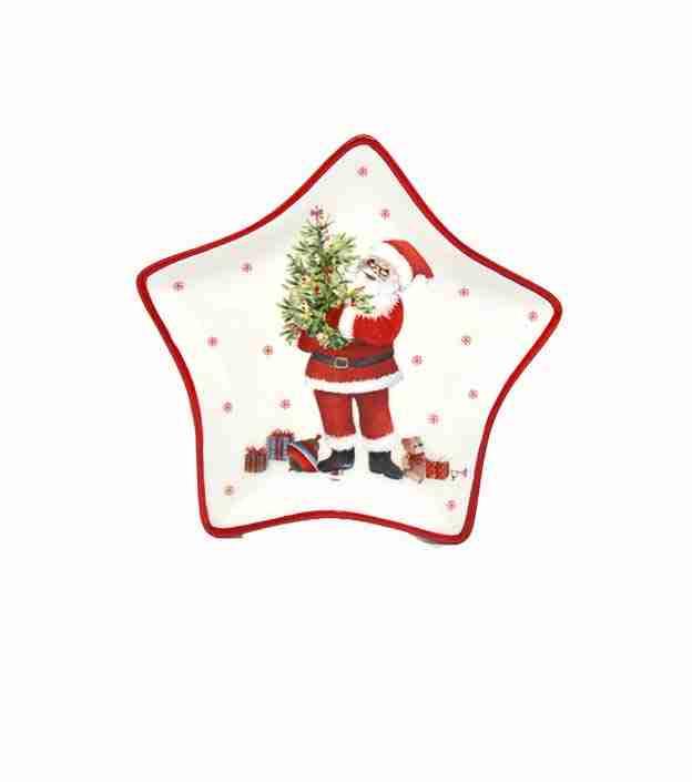 Babbo Natale Piatto Stella