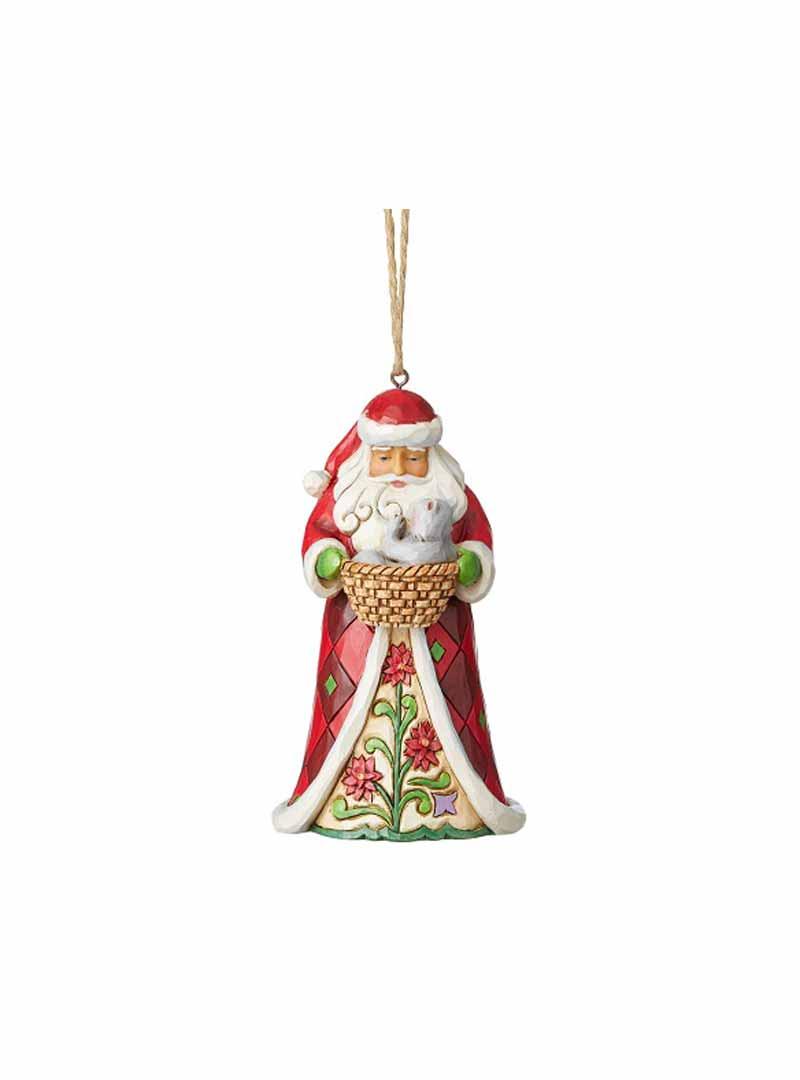 Babbo Natale con gattino e cesta