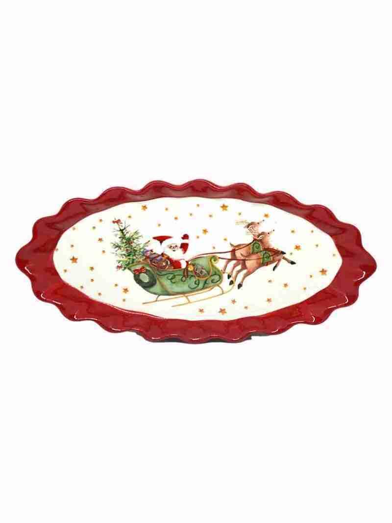 Piatto Natale Ovale
