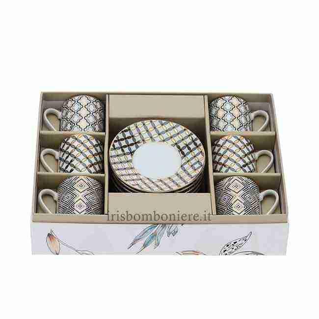 Set Tazzine Porcellana 28091