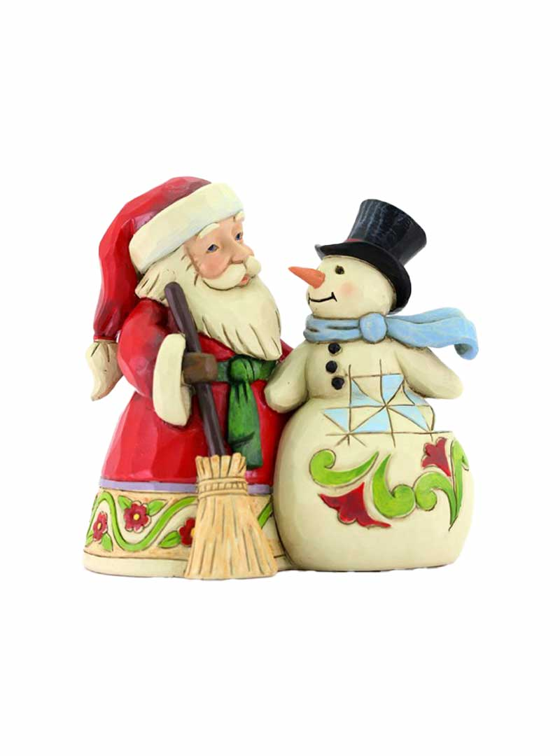 Babbo Natale con Pupazzo di neve