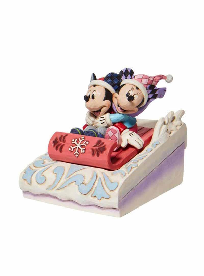 Mickey and Minnie sledding