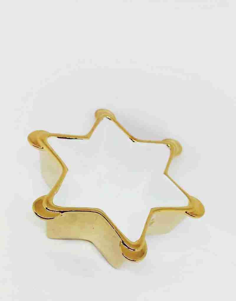 Portacandele a Stella Gold